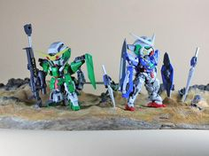 SD Gundam Exia & Dynames Gundam - Diorama Build