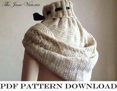 Hooded Cowl Knitting PATTERN Alasse Miriel PDF par TheJaneVictoria, $5.00