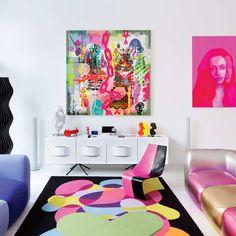 Living room rugs ottawa: inside designer karim rashid's rose-tinted hell's Arte Pop, Karim Rashid, Pop Art Decor, Decoration, Home Design, Design Design, Design Trends, Casa Pop, Top Interior Designers