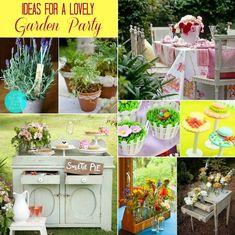 garden party ideas  http://celebrationsathomeblog.com/2013/05/ideas-for-hosting-a-garden-party.html