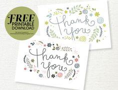 Free Printable Thank You Card Download (she: Sharon)
