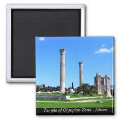 Temple of Olympian Zeus - Athens Refrigerator Magnets