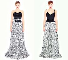 Silk dresses with tribal print #Reflection