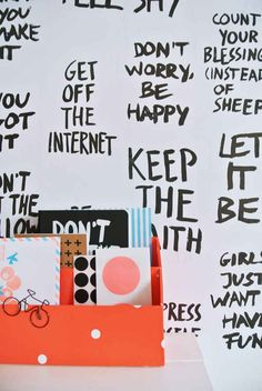 Use your whiteboard to write motivational (and funny) messages.