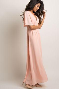 39c88d8a2439 28 Best Pink chiffon Dress images | Pink chiffon dress, Evening ...