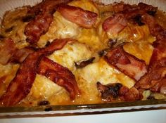 Bacon - Cheese Topped Chicken Recipe