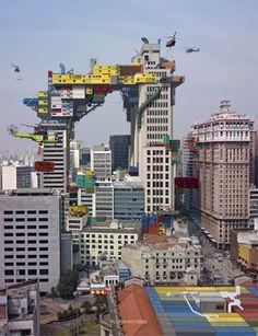 transformer le paysage - Alain Bublex - Plug-In City (2000) São Paulo