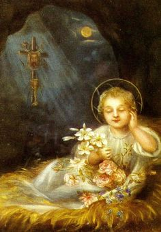 Infant painted by Therese of Lisieux  ♥ This painting ♥ Incredible talent!