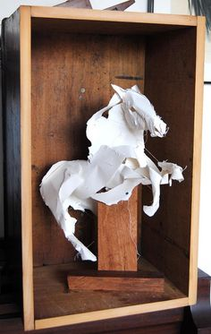 who wouldn't love to have a #paper #horse in a #wooden #box?