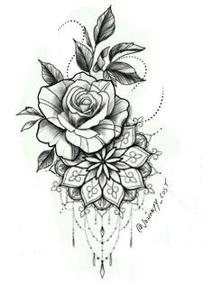 tattoos on black women \ tattoos for women ; tattoos for women small ; tattoos for moms with kids ; tattoos for guys ; tattoos for women meaningful ; tattoos with meaning ; tattoos for daughters ; tattoos on black women Rose Tattoos, Leg Tattoos, Black Tattoos, Body Art Tattoos, Small Tattoos, Lotus Tatoos, Pink Tattoos, Tattos, Mandala Flower Tattoos