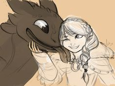 Astrid and Toothless                                                                                                                                                                                 More