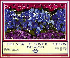 Art Print London Bus Chelsea Flower Show  Poster by BloominLuvly