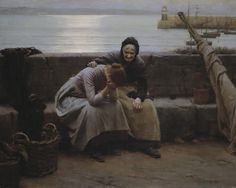 Never Morning Wore to Evening but Some Heart Did Break by Walter Langley. A sadder #favMW, loved by many visitors.