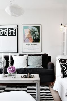 Artwork and lounge room