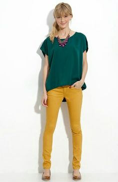 Mustard and hunter green for fall
