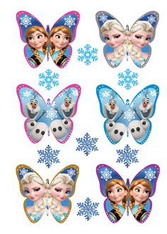 24 x 3D FROZEN BUTTERFLY Edible Cake Cupcake Toppers + 20 FREE SNOWFLAKES   eBay