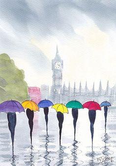 """""""Misty Morning London"""" by KJ Carr"""