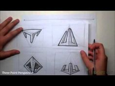 """www.idcreatures.com  In this video tutorial you will learn how to sketch three point perspective.This video is part of the """"Basic Skills"""" set of tutorials.  If you visit www.idcreatures.com you will find that I have scanned all the sketches and added some extra examples so you can practice."""
