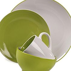 Lime green dinnerware adds that splash of color your table needs!  sc 1 st  Pinterest & turquoise and lime green dinnerware - Google Search | Dishes ...