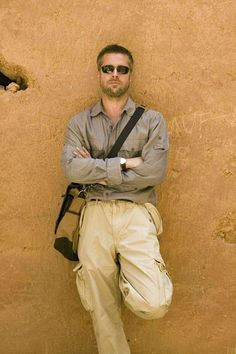 Brad Pitt | yellow wall