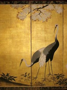 Exquisite Japanese E Japan Painting, China Painting, Japanese Prints, Japanese Wall Art, Feuille D'or, Japanese Screen, Art Japonais, Galerie D'art, Asian Decor