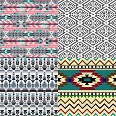 Modern Aztec inspired Patternbank Studio Designs by Hanna Viktorsson, Hanna Victorsson, Hanna Viktorsson, Studimisty.