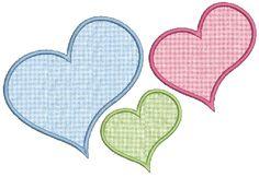no sew applique patterns free | No 260 Applique Hearts Machine Embroidery Designs