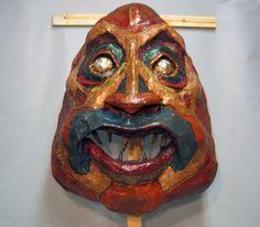Mask of OBBA. Paper Mache.