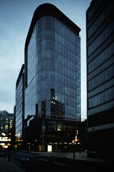 Early morning photograph of office block in central Birmingham UK.