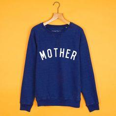 Mother 'Boyfriend' Sweatshirt Navy / White - mum loves