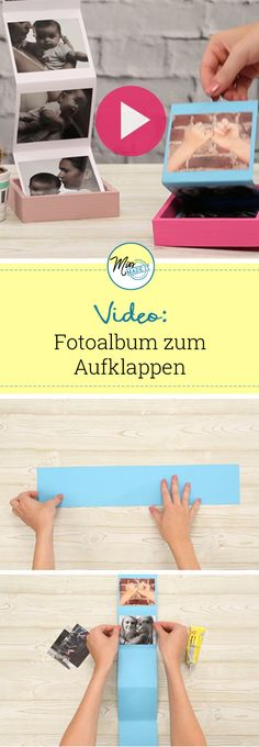 Make photo gifts: 4 sensational ideas- Fotogeschenke basteln: 4 sensationelle Ideen Make Photo Gifts: Photo Album to Open, Photos, DIY, Crafting Gifts, Gift Ideas (Diy Gifts Wedding) - Birthday Present Diy, Birthday Presents, Diy Birthday, Diy Photo, Diy Holiday Gifts, Christmas Diy, Foto Gift, Diy Crafts Videos, Diy And Crafts