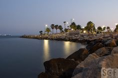 Molos By The Sea. This is the edge of Molos Park in Limassol sea front.