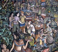 A slice of Bali life from an I Made Budi painting