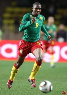 Samuel Eto'o, from Cameron. Another favorite player and he is the only African football player to win the prestigious African player of the year 4 times in a row.