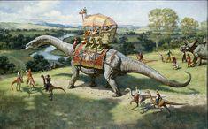 Palm Beach ArtsPaper: Art review: 'Dinotopia' light, entertaining exhibit for our inner kids