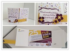 Card to hold a gift certificate.  #card #giftcard #papercrafting #birthday #inksandpieces #stampinup #su