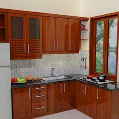 Best Wood Home Interior Islands Ideas Kitchen Room Design, Home Room Design, Kitchen Cabinet Design, Kitchen Sets, Modern Kitchen Design, Home Decor Kitchen, Kitchen Interior, Home Kitchens, Small Kitchen Set