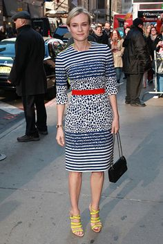 Diane Kruger in Preen - At 'Good Morning America' in New York City.  (March 2013)