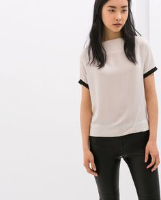 zara woman combined office. Image 1 Of COMBINED RIBBED TOP From Zara Woman Combined Office