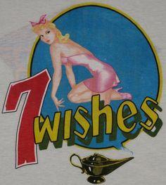 Vintage 1985 Night Ranger 7 Wishes Tour Shirt.