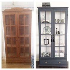 Altes Kiefernholz – grau und weiß gestrichen - UPCYCLING IDEEN Old pine wood - painted gray and whit Painting Cabinets, Redo Furniture, Home Furnishings, Refurbished Furniture, Painted Furniture, Diy Furniture Redo, Paint Furniture, Home Diy, Pine Cabinets