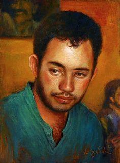 Silas. Óleo sobre tela. Luiz Vilela (Boa Esperança, Minas Gerais, Brasil, 1965 - ).