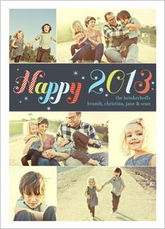 Starry Happiness New Year's Card