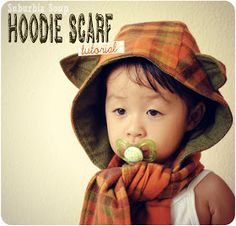 Suburbia Soup: Hoodie Scarf Tutorial ( I need to make these for the kids this winter!)