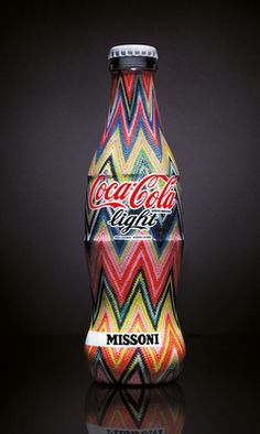 *Missoni and Diet coke (Coca Cola light. Cool Packaging, Packaging Design, Pepsi, Missoni, Garrafa Coca Cola, Coca Cola Light, Always Coca Cola, Coca Cola Bottles, Bottle Lights