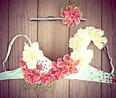 Custom Order  Island Goddess Rave Bra by TheLoveShackk on Etsy