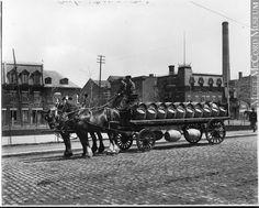 Chariot à bière de la Brasserie Molson, (1908)