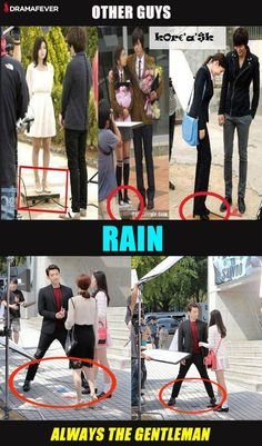 """Rain and his """"manner legs"""""""