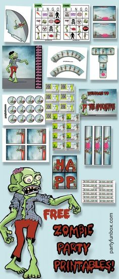 Free Zombie Printables from Party Fun Box.