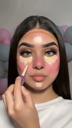 Red Eyeshadow Makeup, Nose Makeup, Day Eye Makeup, Blush Makeup, Glam Makeup, Skin Makeup, Colorful Makeup, Simple Makeup, Luminous Makeup